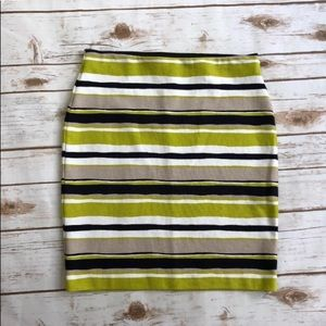 Ann Taylor Factory Bodycon Striped Skirt Sz 2